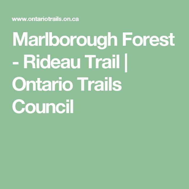 Marlborough Forest - Rideau Trail   Ontario Trails Council