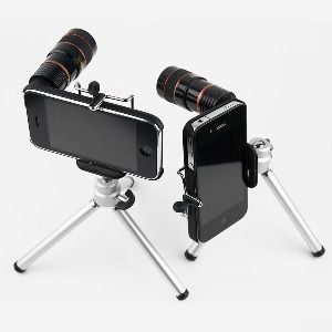 8x zoom lens and mini tripod for iPhone