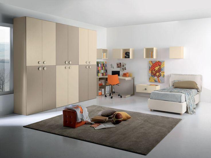 Cameretta+per+ragazzi+completa+,+Tiziano.+-+Cameretta+per+ragazzi+completa+,+Tiziano.++Armadio+con+ante+battenti,+comodino+largo+,+letto+imbottito+con+contenitore+,++scrivania,++n°+3+libreria+cubo+maxi+1+anta,+n°+2+libreria+cubo+maxi+1+anta.