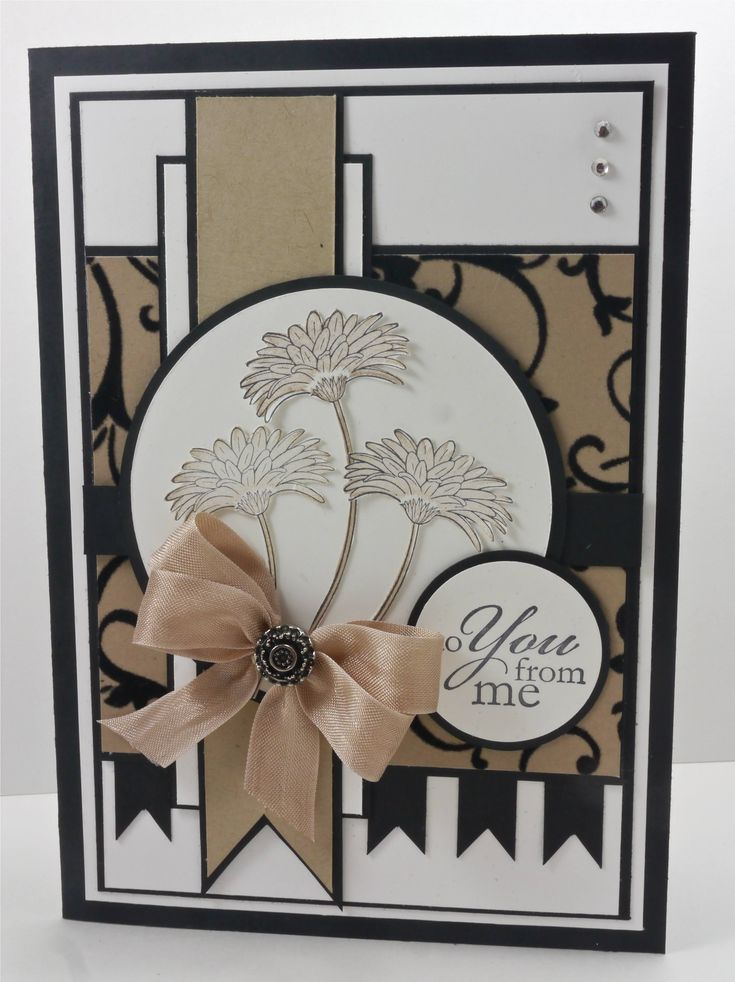 elegant card in neutral colors ... many layers ... Stampin' Up! ... Mojo Sketch # 250: