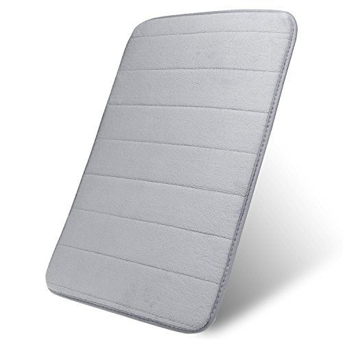 From 10.49 Scylla Soft Non-skid Water Absorbent Memory Foam Bath Mat Bathroom Carpet Ideal For Shower Bathtub Toilet Rectangle Silver Gray 60x41x1cm(lxwxh)