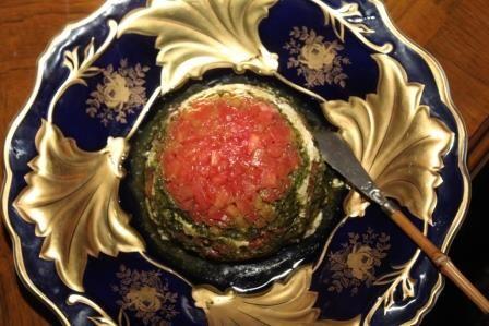 Dip de Tomate Pesto y Queso