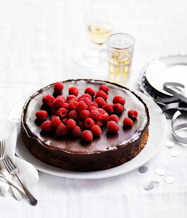 Australian Gourmet Traveller recipe for chocolate and hazelnut cake with espresso ganache.