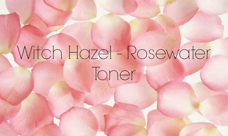 Toners are an important step in any skincare routine in order to keep pores  tight, remove dirt and makeup residue, and to moisturize skin. This witch  hazel and rosewater blend is the perfect natural combo for a great toner.  Witch hazel is a great natural astringent, with high levels of tannins  which work to reduce pore size and oil production in the skin. Rosewater is  a natural antibacterial and anti-inflammatory, which works to fight acne  and rosacea prone skin, while also…