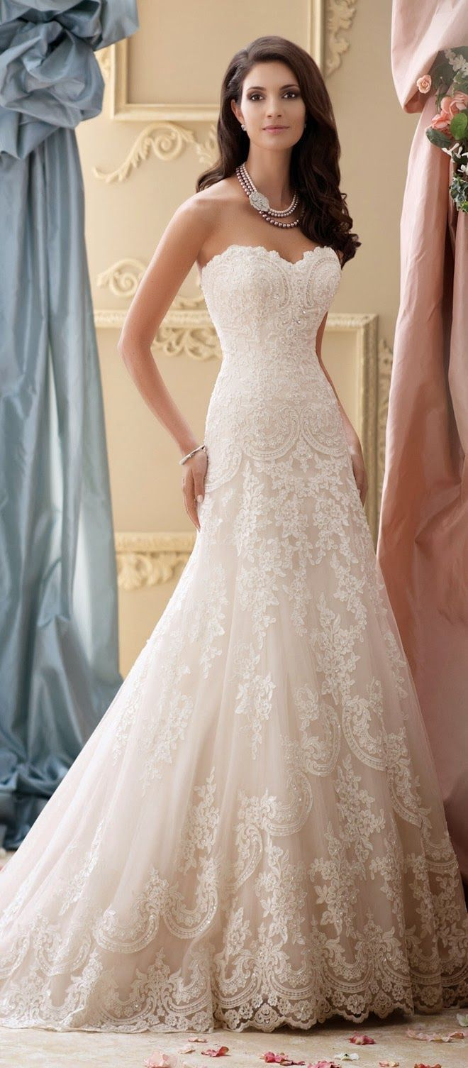 55 best wedding dress images on pinterest weddings wedding david tutera for mon cheri spring 2015 bridal collection junglespirit Gallery