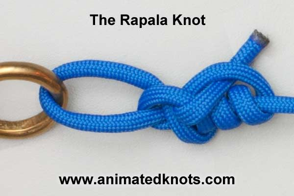Rapala Knot | a non-slip loop knot tied directly to a lure. Recommended for use with Rapala lures to allowed the lures to move freely and naturally.