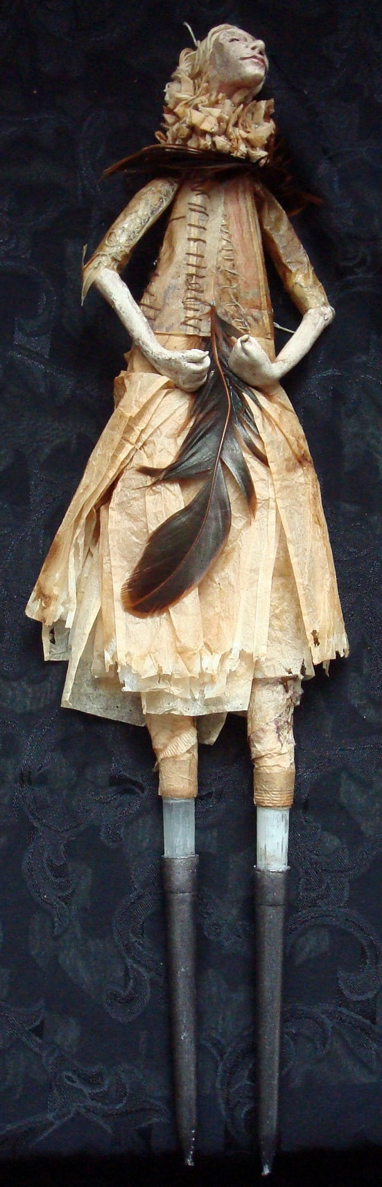 Medea by Throat Of The Loon.: Dolls Closet, My Best Friends, Identity Token, Feathers, Dolls Artists, Art Dolls, Ooak Art, Art Graphiqu, Dolls Puppets Toys