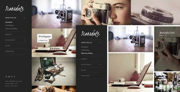 Scarsdale �20Responsive HTML5 Photography Portfolio Site Templates / Creative / Photography by weibergmedia