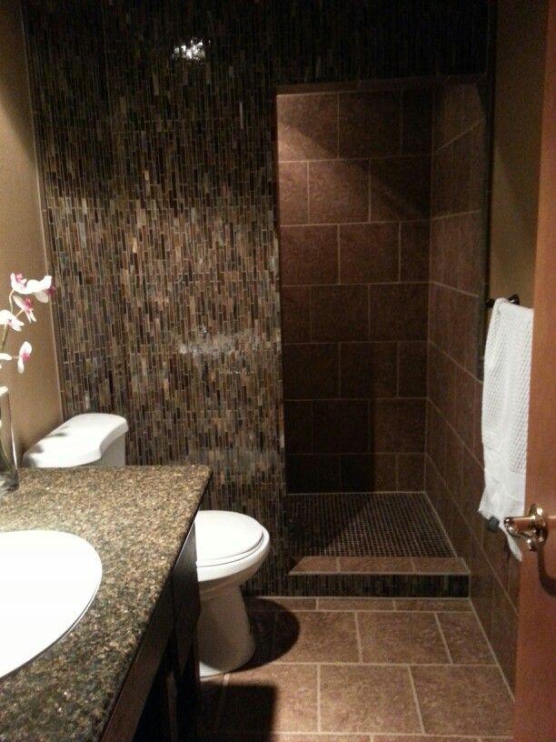 Walk in shower no more door to clean, happy wife :)