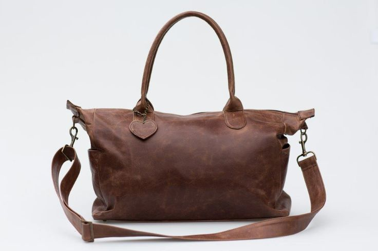 Mally Brown Leather Baby Bag