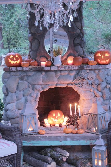 French Country Cottage Halloween Fun Harvest Home