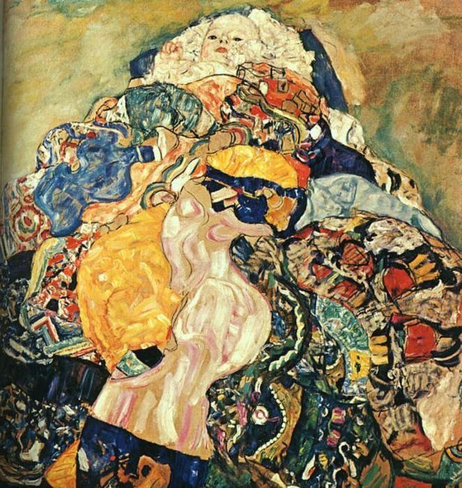 'bambino', olio su tela di Gustav Klimt (1862-1918, Austria)