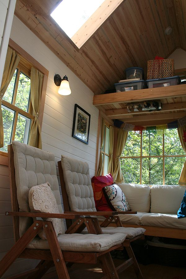 tiny home: Tiny Homes, Tiny House Interiors, Baysid Bungalows, Tiny House Living, Google Search, Small House, Tiny House Spac, Folding Chairs, Woods Ceilings