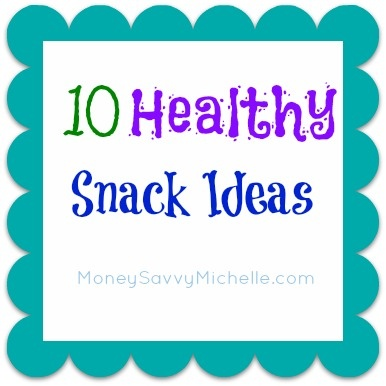 10 Healthy Snack Ideas, dark chocolate in small amounts makes the list!