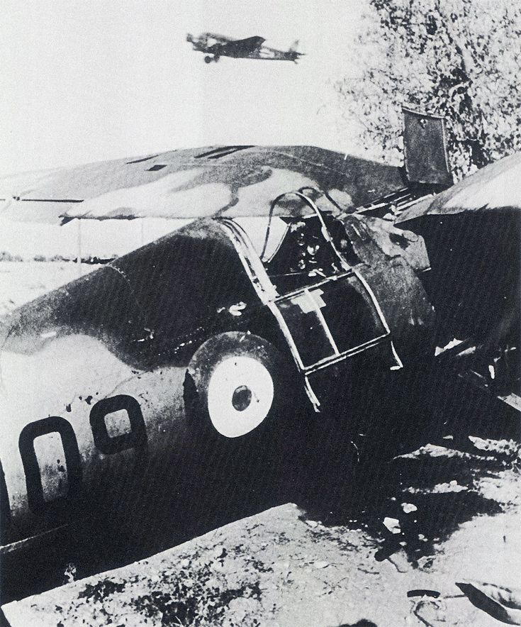 PZL P.24 of Royal Hellenic AF lies abandoned on a Greek airfield, 1941