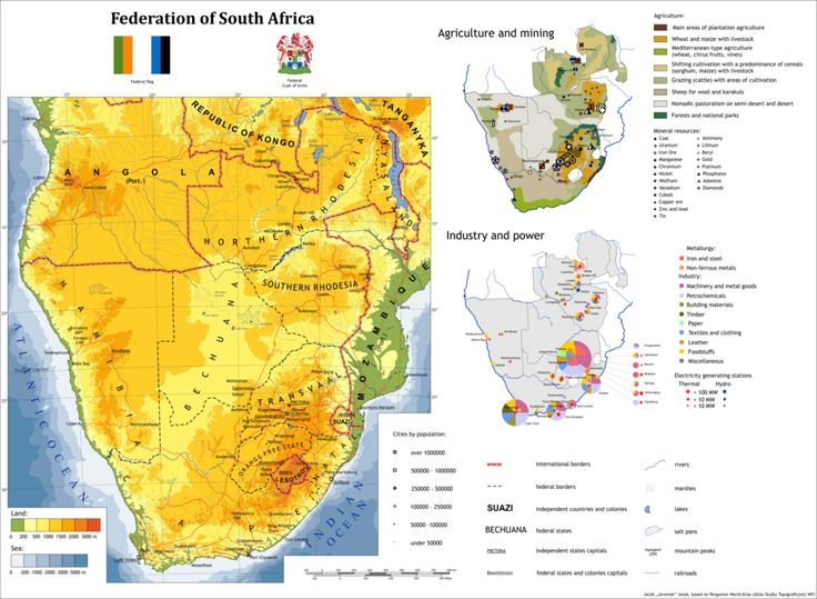 Federation of South Africa: alternate history map