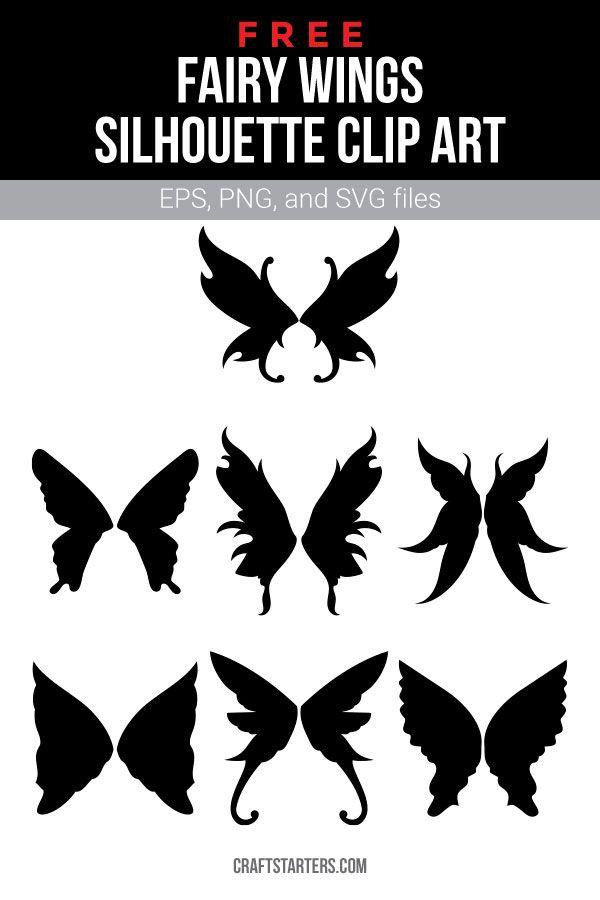 Free Fairy Wings Silhouette Clip Art Fairy Silhouette Silhouette Clip Art Fairy Wings Drawing