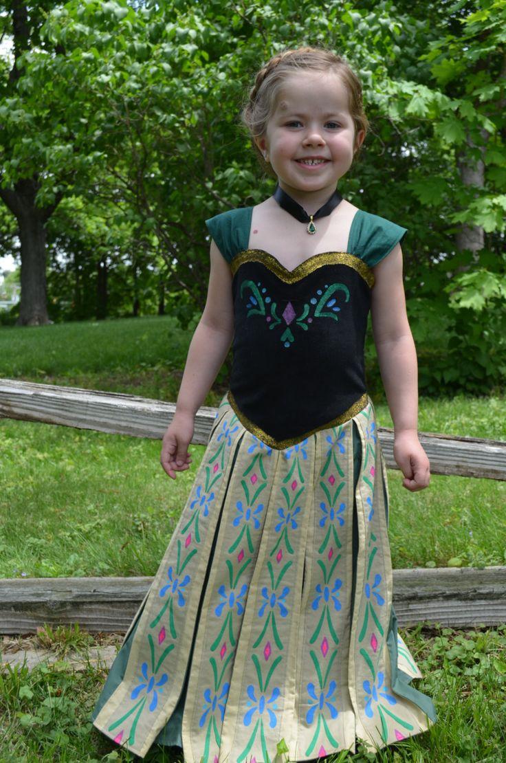 The dress from frozen - Frozen Princess Anna Inspired Coronation Dress Pdf By Mlwozniak 9 50 Lexi S Photo Made The