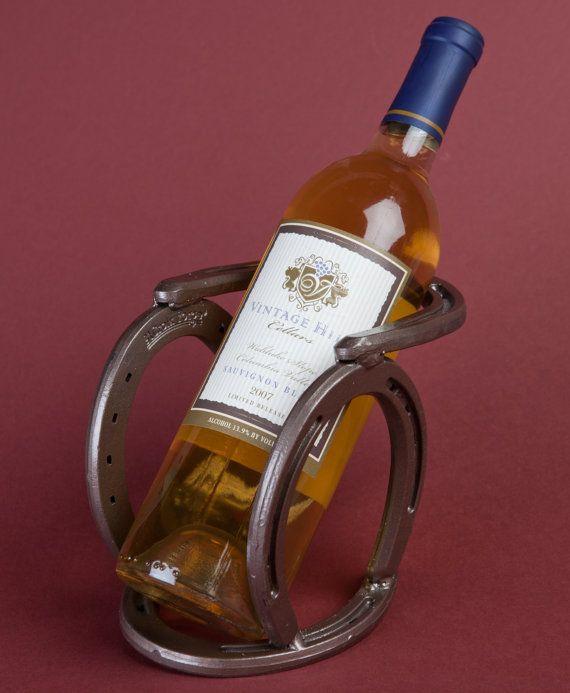 Western horseshoe wine bottle holder - southwestern, cowboy, cowgirl, ranch, wedding on Etsy, $29.83 CAD