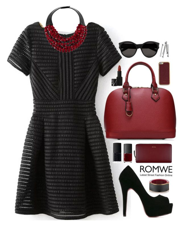 """""""Romwe 7"""" by scarlett-morwenna ❤ liked on Polyvore featuring Paul Smith, NARS Cosmetics, ID-INFINITE, Marni, Fairchild Baldwin, Yves Saint Laurent and BOBBY"""