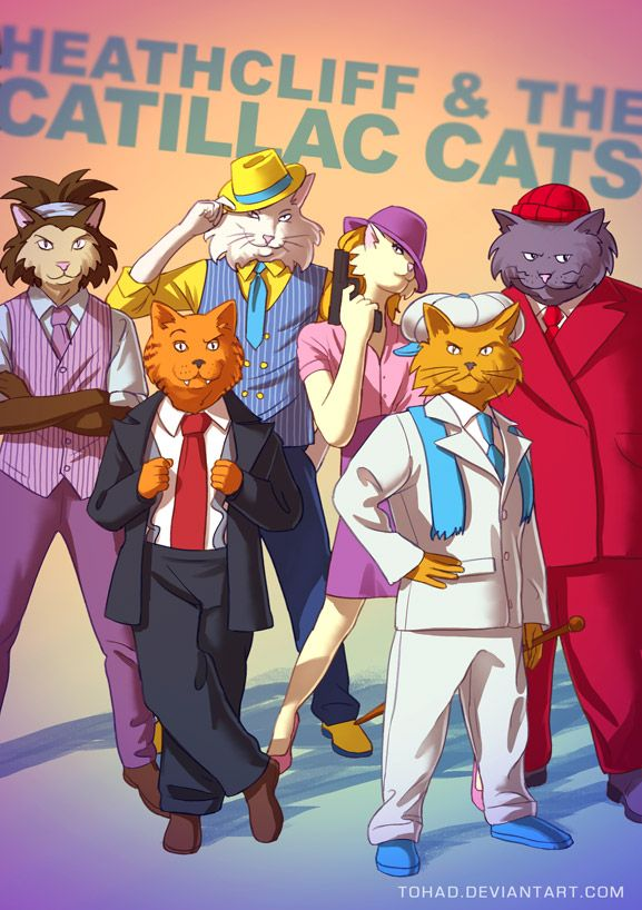 Heathcliff and the Catillac Cats BADASS by Tohad on deviantART