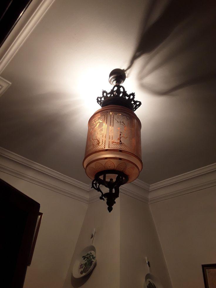 Lampe à gaz cristal de baccara  1900