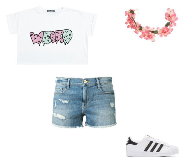 """#372"" by aureeliet on Polyvore featuring Frame, adidas Originals and Miss Selfridge"