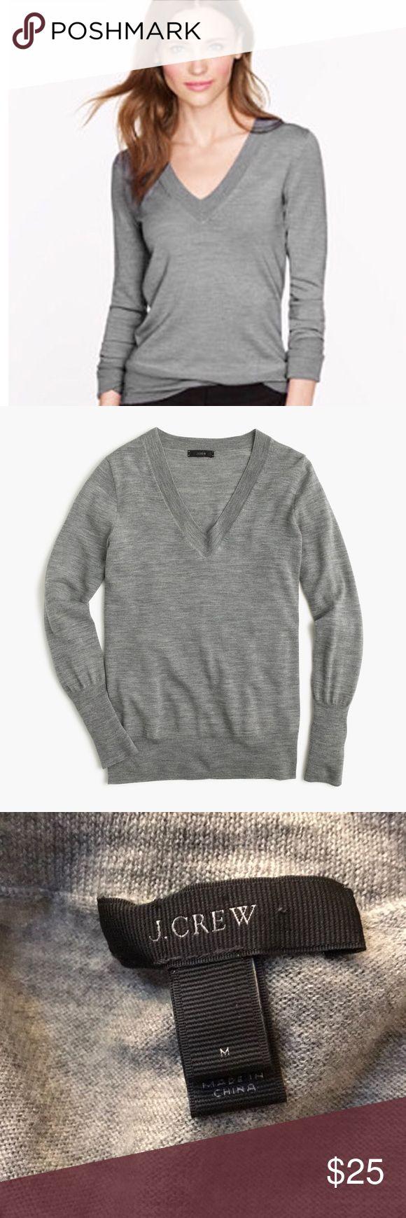 J.Crew Merino wool V-neck sweater M