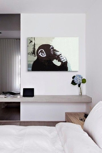 The Thinker Monkey by Banksy Canvas Print by iCanvasART on @HauteLook
