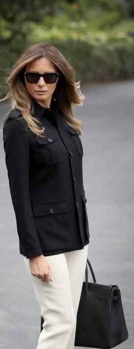 First Lady Melanie Trump in Chanel