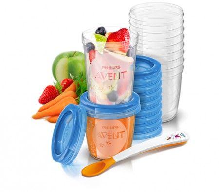 Avent VIA poharak tetővel, amelyekben egészségesen tárolható az étel…