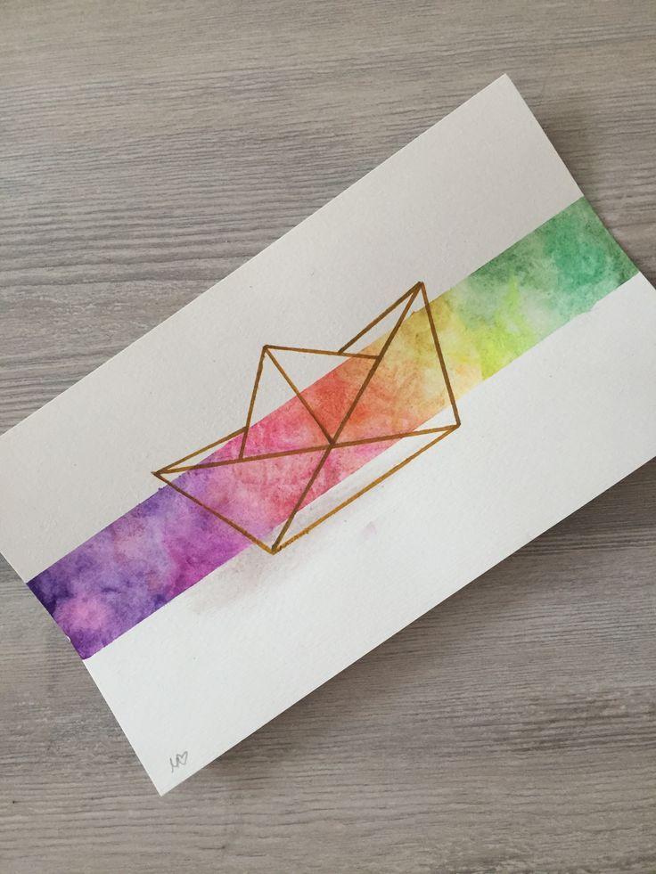 Boot aus geometrischen Formen – #aus #Boot #Formen…