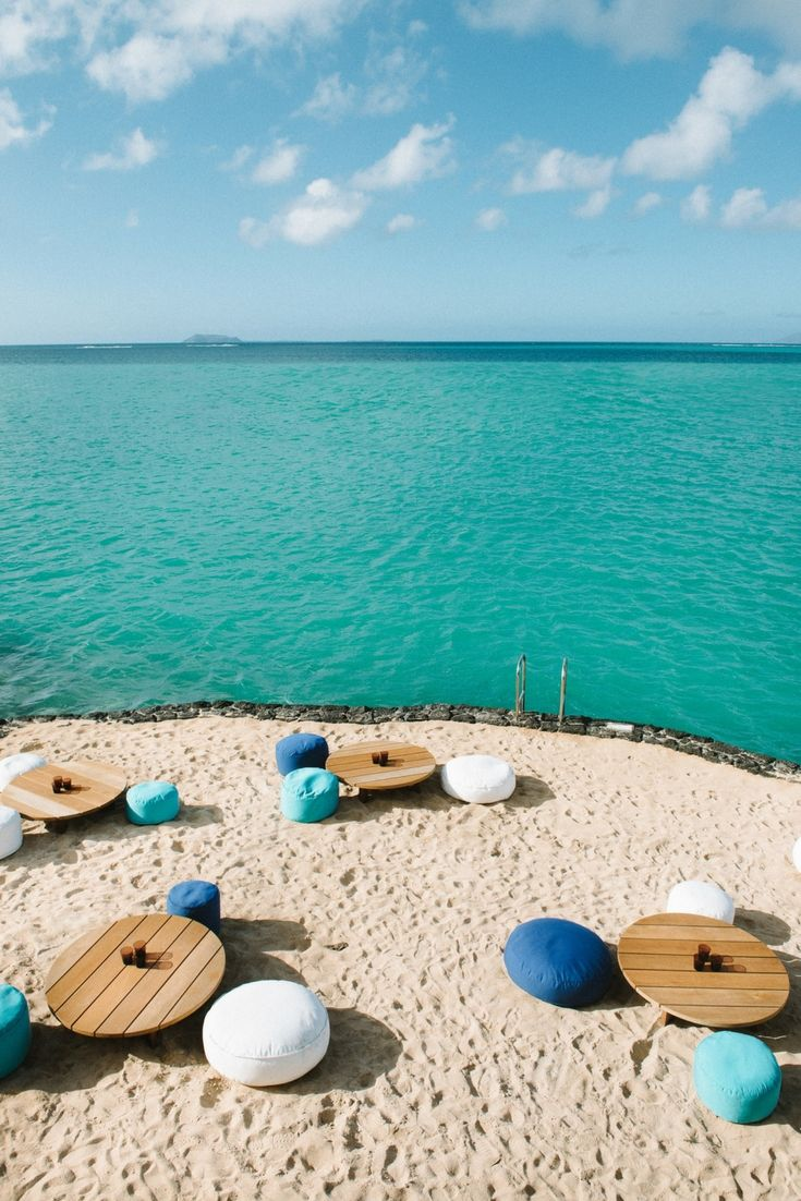 Ultimate chill out spot at Paradise Cove in Mauritius...