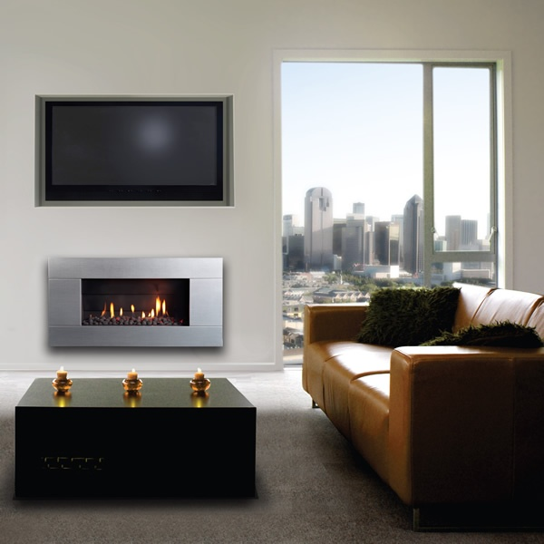 Escea Indoor Gas Stainless Steel Fireplace