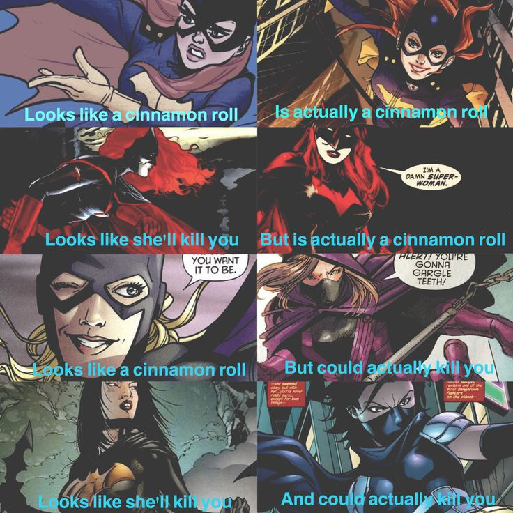 Batfam girls! (Batgirl: Barbara Gordon, Batwoman: Kate Kane, Spoiler: Stephanie Brown and Orphan: Cassandra Cain)