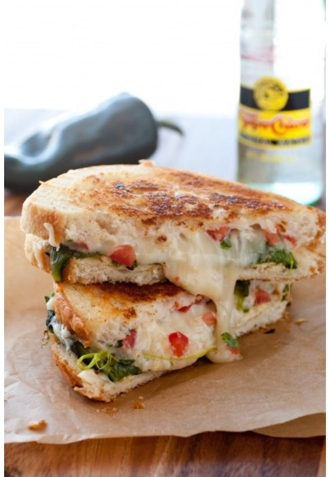 Chile Relleno Grilled Cheese Sandwich | Food & Drink | Pinterest