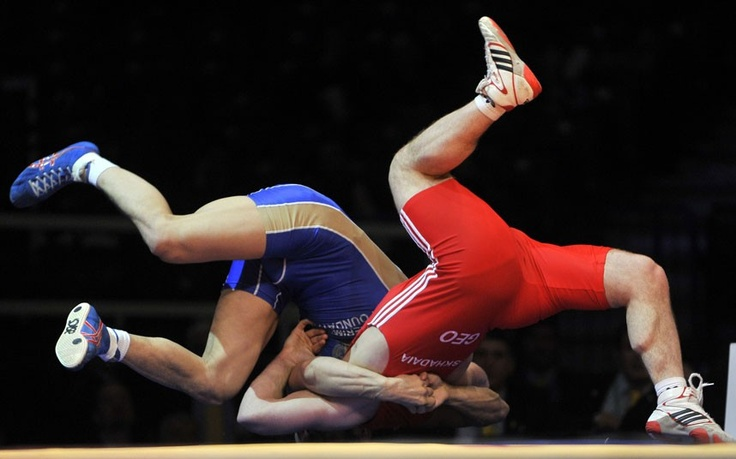 Fighting for first place in the European Wrestling Championship http://www.telegraph.co.uk/news/picturegalleries/picturesoftheday/9138081/Pictures-of-the-day-12-March-2012.html