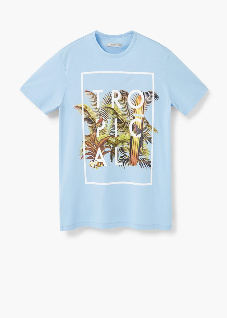 T-shirt estampado tropical | MANGO MAN