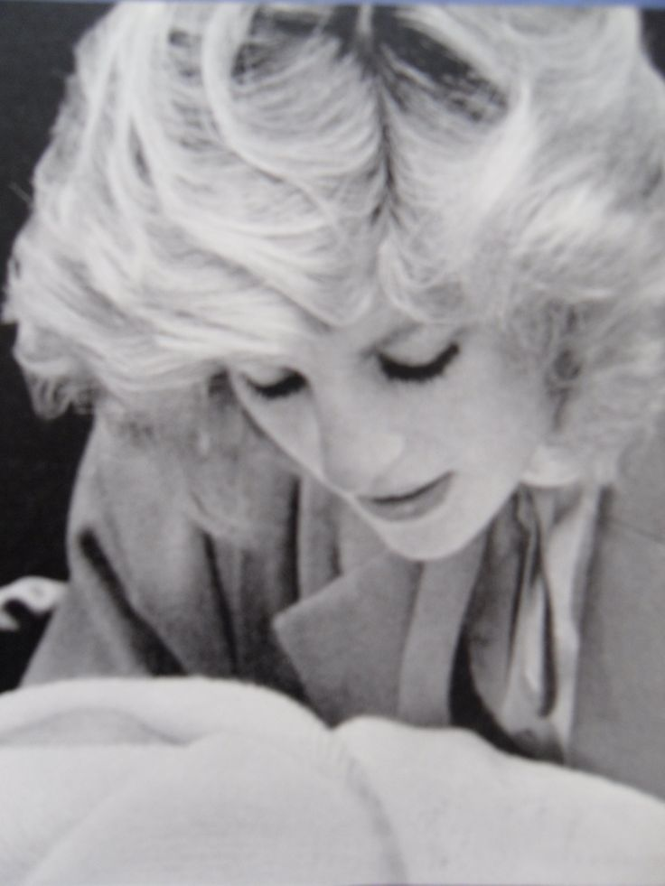 Diana with her newborn son Prince Harry posing for photographers outside St Mary's Lindo Wing, Paddington.