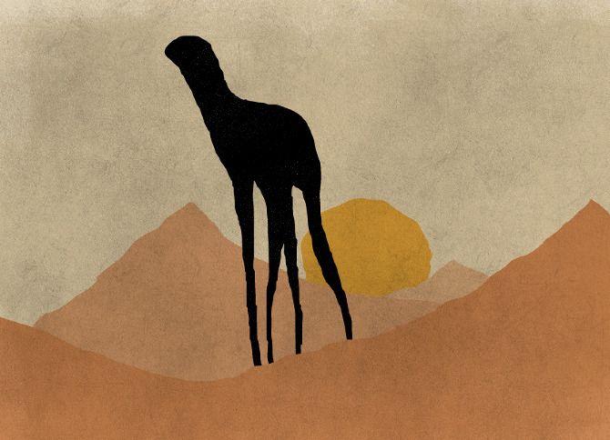 Evan StremkeMythical Beast, Graphics Inspiration, Spooky Giraffes, Evans Stremk