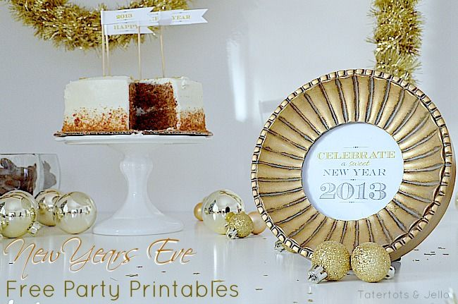 NYE Party Free Printables