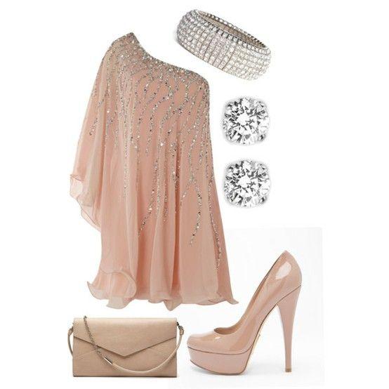 Sweet pale pink sequins
