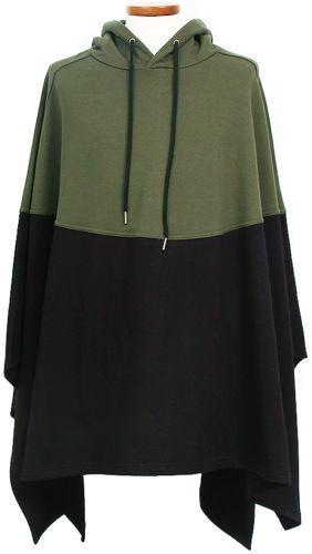 Mens-Fashion-Contrast-Color-Cotton-Hood-Poncho-Cape-GENTLER