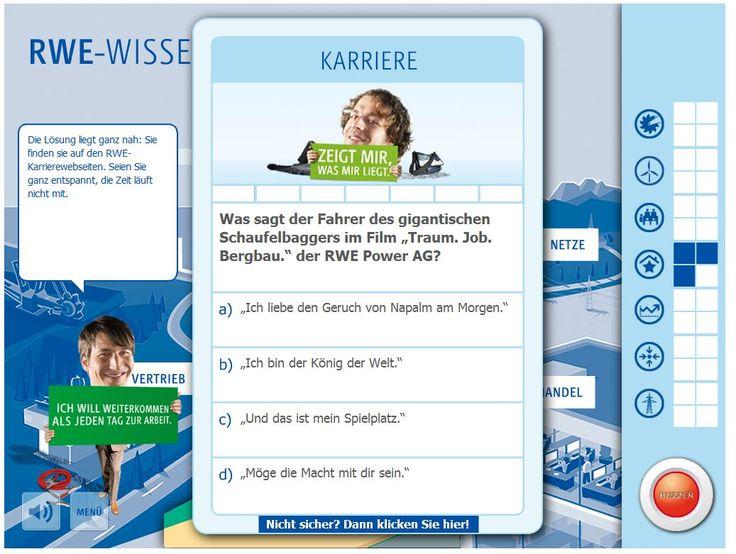RWE-Karrierewebsite ´Bewerberakademie´ bietet kostenlosen Test zur Messung berufsbezogener Persönlichkeitsmerkmale