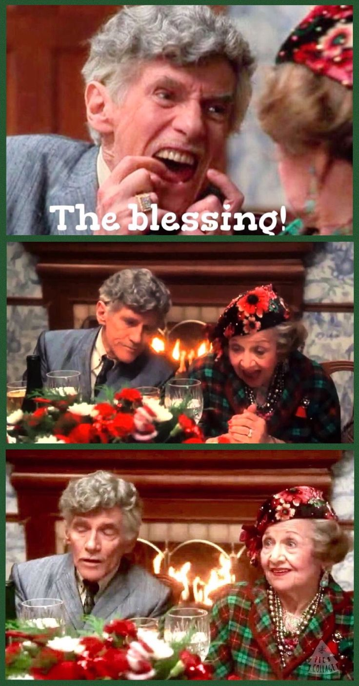 Christmas Vacation (1989) - CLARK: Since this is Aunt Bethany's 80th Christmas, I think she should lead us in the saying of grace. AUNT BETHANY: What, dear? NORA GRISWOLD: Grace! AUNT BETHANY: Grace? She passed away thirty years ago. UNCLE LEWIS: They want you to say grace. The Bless...ing! AUNT BETHANY: I pledge allegiance to the flag of the United States of America and to the republic for which it stands. One nation, indivisible, with liberty and justice for all. CLARK: Amen.