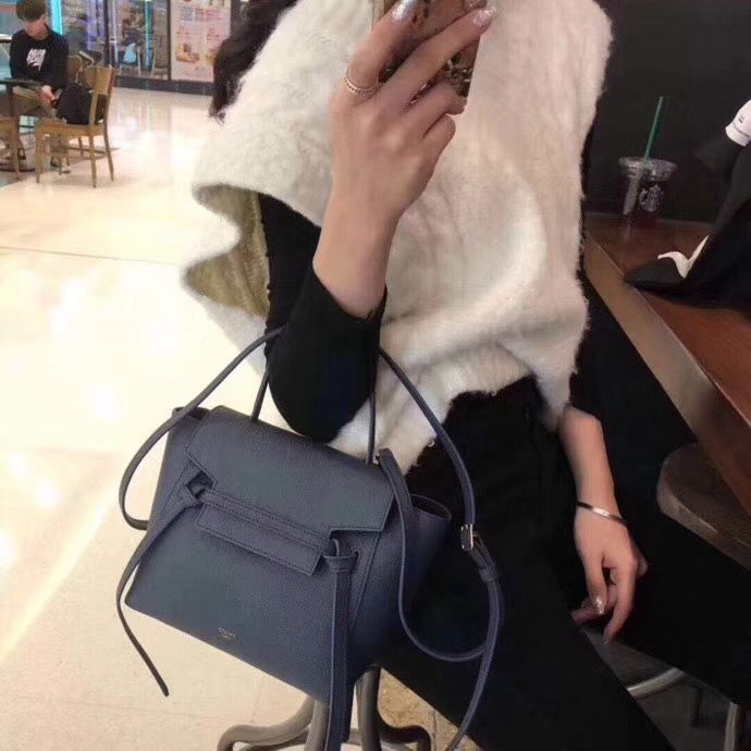 Celine Nano Belt Bag Epsom Leather 21cm Celine Belt Bag