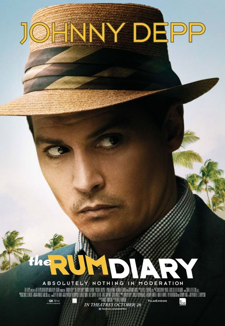 The Rum Diary (2011) Eager to flee his humdrum life in 1950s New York, booze-loving journalist Paul moves to Puerto Rico, but his life becomes unhinged when he falls for a gorgeous woman and clashes with her shifty fiancé in this adaptation of Hunter S. Thompson's novel. Johnny Depp, Giovanni Ribisi, Aaron Eckhart...5d