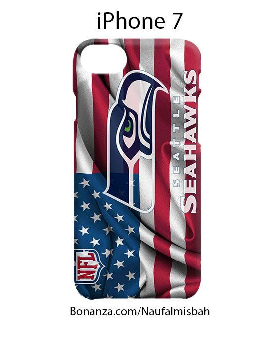 Seattle Seahawks on Flag US iPhone 7 Case Cover Wrap Around