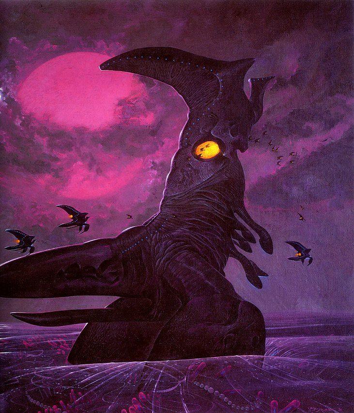 """""""Emperor Sea Strider"""" by Wayne Barlowe"""