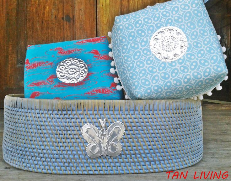 Blue Baskets by Tan Living.